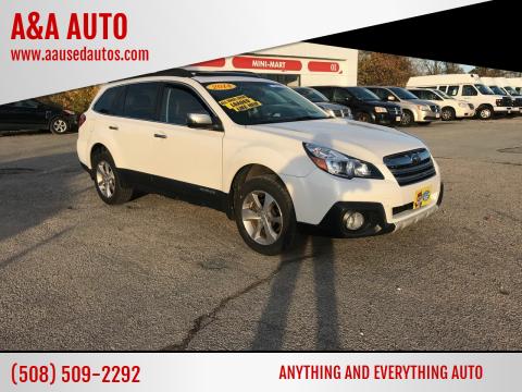 2014 Subaru Outback for sale at A&A AUTO in Fairhaven MA