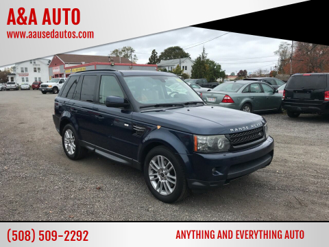 2012 Land Rover Range Rover Sport for sale at A&A AUTO in Fairhaven MA