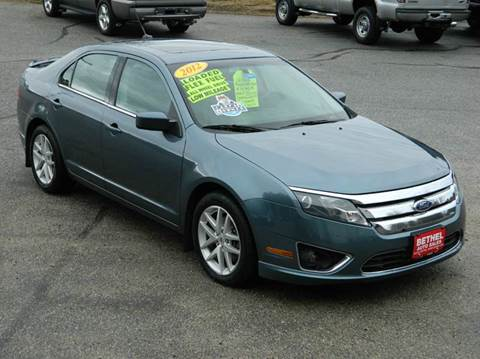2012 Ford Fusion for sale at Bethel Auto Sales in Bethel ME