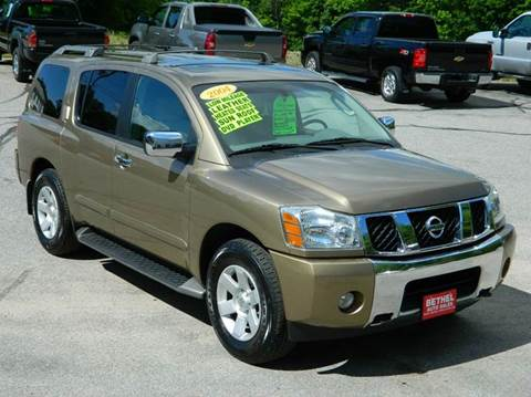 2004 Nissan Armada for sale at Bethel Auto Sales in Bethel ME