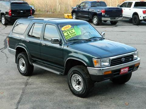1994 Toyota 4Runner for sale at Bethel Auto Sales in Bethel ME
