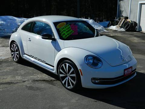2012 Volkswagen Beetle for sale at Bethel Auto Sales in Bethel ME