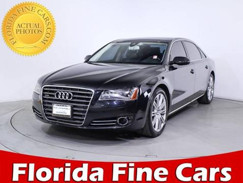 2013 Audi A8 L for sale in Miami, FL