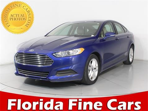2016 Ford Fusion for sale in Hollywood, FL