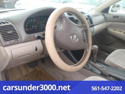 2002 Toyota Camry for sale in Lake Worth, FL