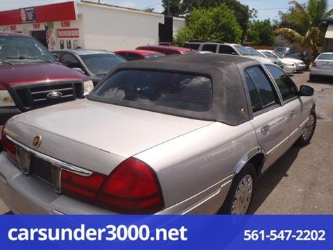 2003 Mercury Grand Marquis for sale in Lake Worth, FL