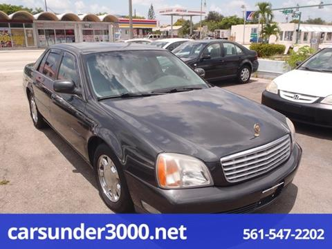 2001 Cadillac DeVille for sale in Lake Worth, FL