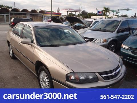 2001 Chevrolet Impala for sale in Lake Worth, FL