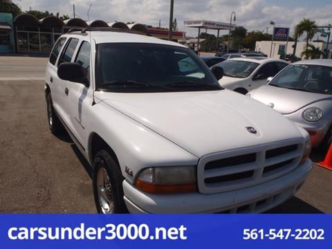 1999 Dodge Durango for sale in Lake Worth, FL