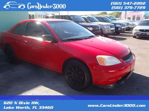 2002 Honda Civic for sale in Lake Worth, FL