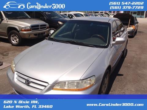 2002 Honda Accord for sale in Lake Worth, FL