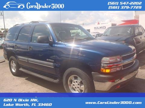 2002 Chevrolet Tahoe for sale in Lake Worth, FL