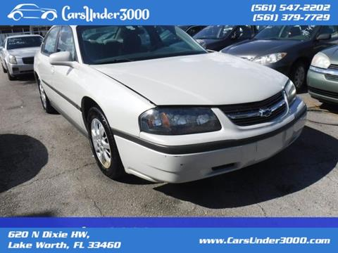 2004 Chevrolet Impala for sale in Lake Worth, FL