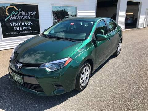 2016 Toyota Corolla for sale at HILLTOP MOTORS INC in Caribou ME