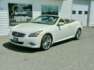 2011 Infiniti G37 Convertible for sale at HILLTOP MOTORS INC in Caribou ME