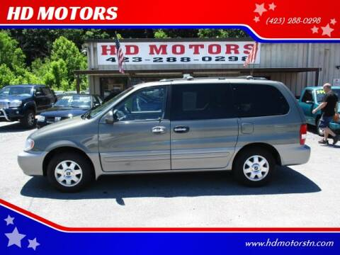 2003 Kia Sedona for sale at HD MOTORS in Kingsport TN