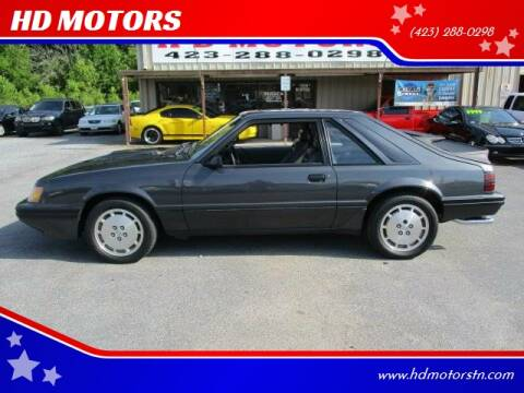 1984 Ford Mustang for sale at HD MOTORS in Kingsport TN