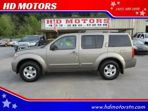 2005 Nissan Pathfinder for sale at HD MOTORS in Kingsport TN