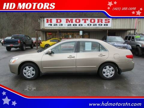 2005 Honda Accord for sale at HD MOTORS in Kingsport TN
