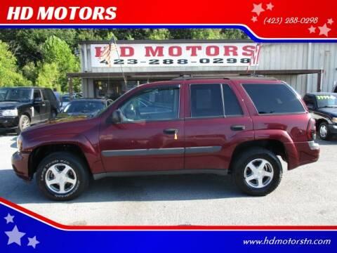 2005 Chevrolet TrailBlazer for sale at HD MOTORS in Kingsport TN