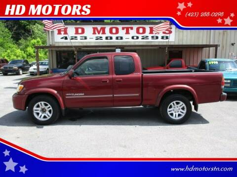 2003 Toyota Tundra for sale at HD MOTORS in Kingsport TN