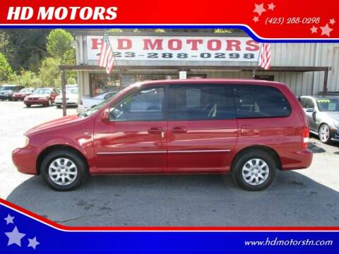 2005 Kia Sedona for sale at HD MOTORS in Kingsport TN