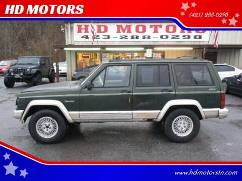 1996 Jeep Cherokee for sale at HD MOTORS in Kingsport TN