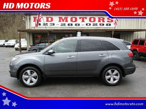 2010 Acura MDX for sale at HD MOTORS in Kingsport TN