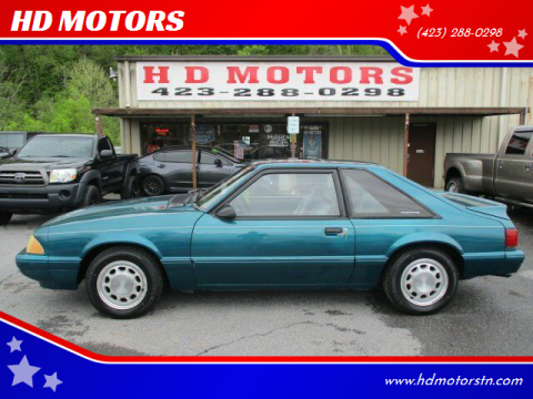 1993 Ford Mustang for sale at HD MOTORS in Kingsport TN