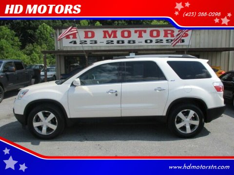 2012 GMC Acadia for sale at HD MOTORS in Kingsport TN