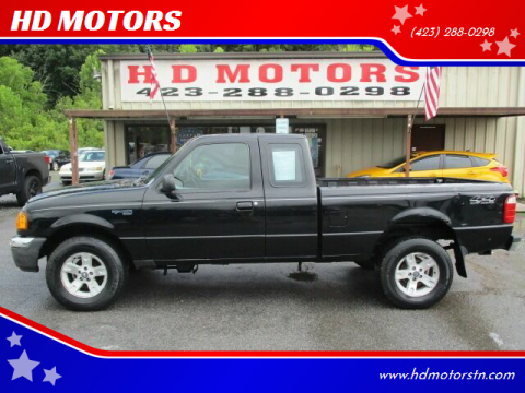 2004 Ford Ranger for sale at HD MOTORS in Kingsport TN