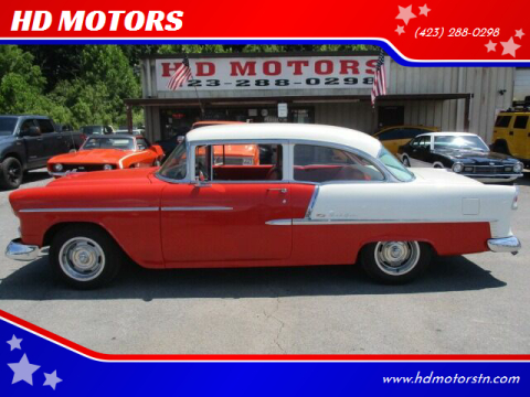 1955 Chevrolet Bel Air for sale at HD MOTORS in Kingsport TN