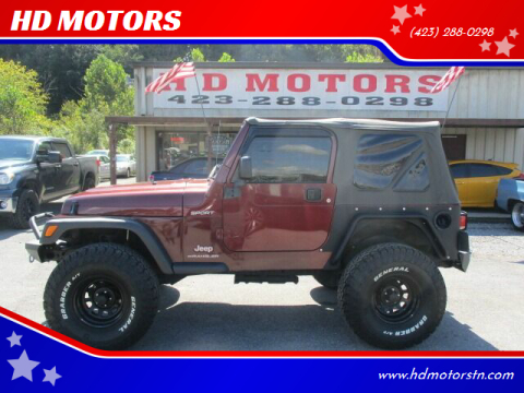 2004 Jeep Wrangler for sale at HD MOTORS in Kingsport TN