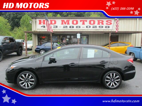 2015 Honda Civic for sale at HD MOTORS in Kingsport TN