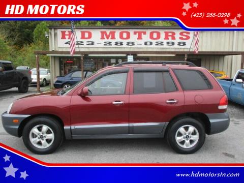 2005 Hyundai Santa Fe for sale at HD MOTORS in Kingsport TN