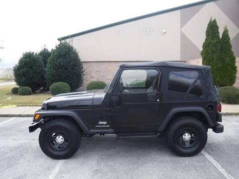 2003 Jeep Wrangler for sale at JON DELLINGER AUTOMOTIVE in Springdale AR