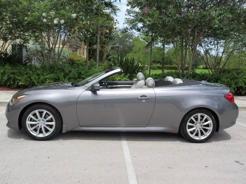 2012 Infiniti G37 Convertible for sale at FIRST FLORIDA MOTOR SPORTS in Pompano Beach FL