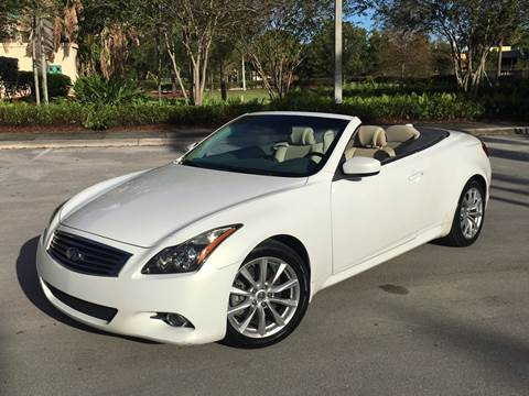 2011 Infiniti G37 Convertible for sale at FIRST FLORIDA MOTOR SPORTS in Pompano Beach FL