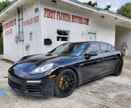 2014 Porsche Panamera for sale at FIRST FLORIDA MOTOR SPORTS in Pompano Beach FL