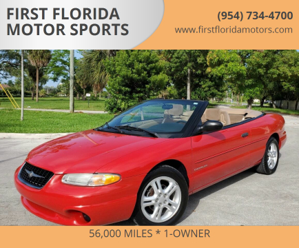 1999 Chrysler Sebring for sale at FIRST FLORIDA MOTOR SPORTS in Pompano Beach FL