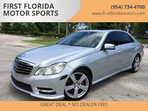 2012 Mercedes-Benz E-Class for sale at FIRST FLORIDA MOTOR SPORTS in Pompano Beach FL