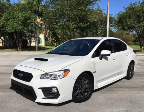 2018 Subaru WRX for sale at FIRST FLORIDA MOTOR SPORTS in Pompano Beach FL