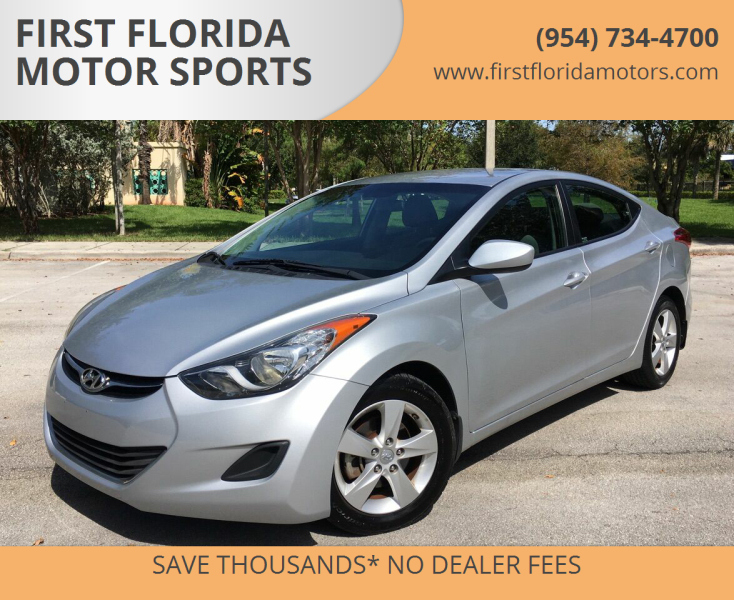 2013 Hyundai Elantra for sale at FIRST FLORIDA MOTOR SPORTS in Pompano Beach FL