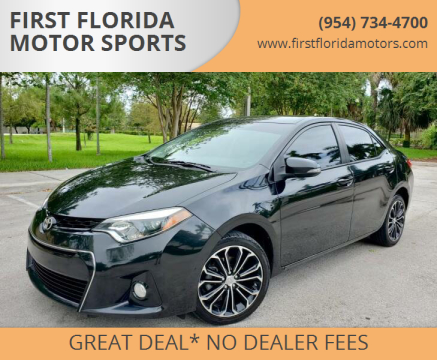 2016 Toyota Corolla for sale at FIRST FLORIDA MOTOR SPORTS in Pompano Beach FL