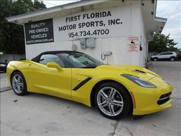 2016 Chevrolet Corvette for sale at FIRST FLORIDA MOTOR SPORTS in Pompano Beach FL