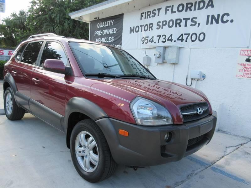 2007 Hyundai Tucson for sale at FIRST FLORIDA MOTOR SPORTS in Pompano Beach FL