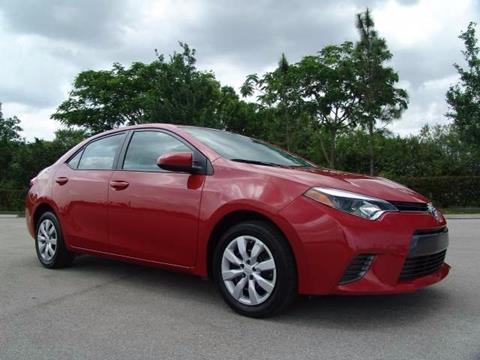2016 Toyota Corolla for sale in Coconut Creek, FL