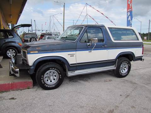 1986 Ford Bronco for sale at HUGH WILLIAMS AUTO SALES in Lakeland FL