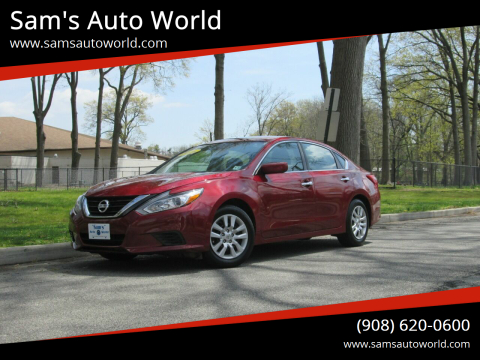 2016 Nissan Altima 2.5 SV for sale at Sam's Auto World in Roselle NJ