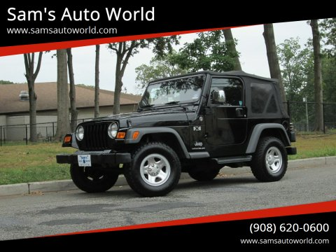 2005 Jeep Wrangler for sale at Sam's Auto World in Roselle NJ